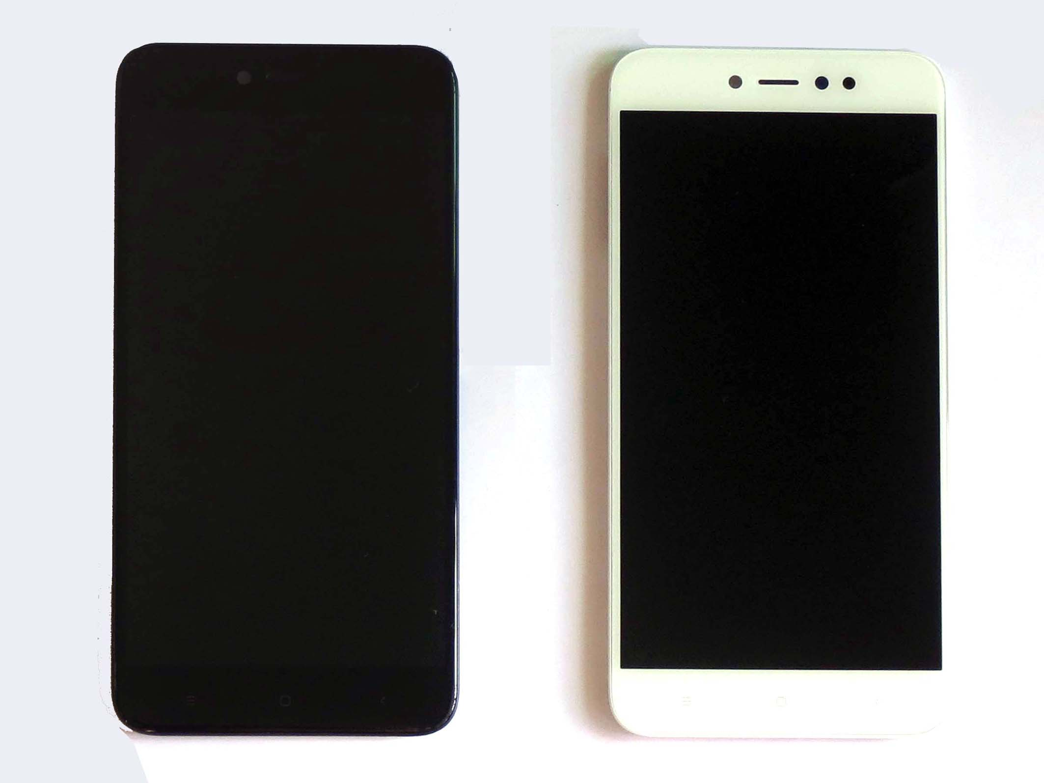 Original Complete screen with frame for 32/64G Redmi note 5A pro-Black&White