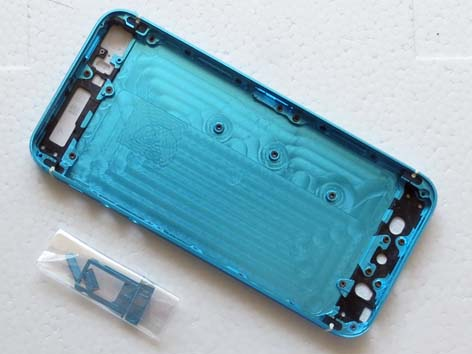 multicolour back cover for iPhone 5S - Baby Blue