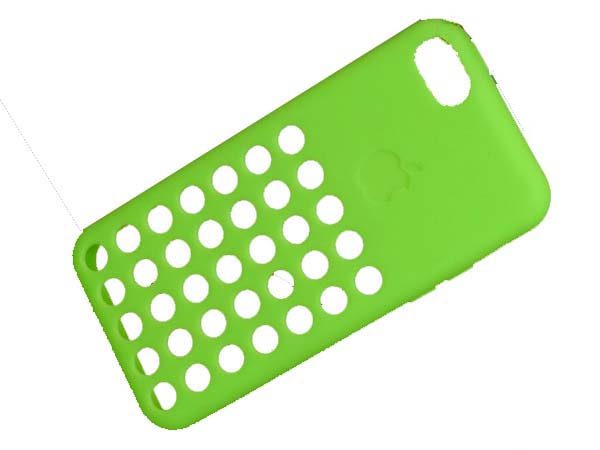 Silicon Case Rouch Hole Design Back Cover Soft Skin Cover for  iPhone 5C