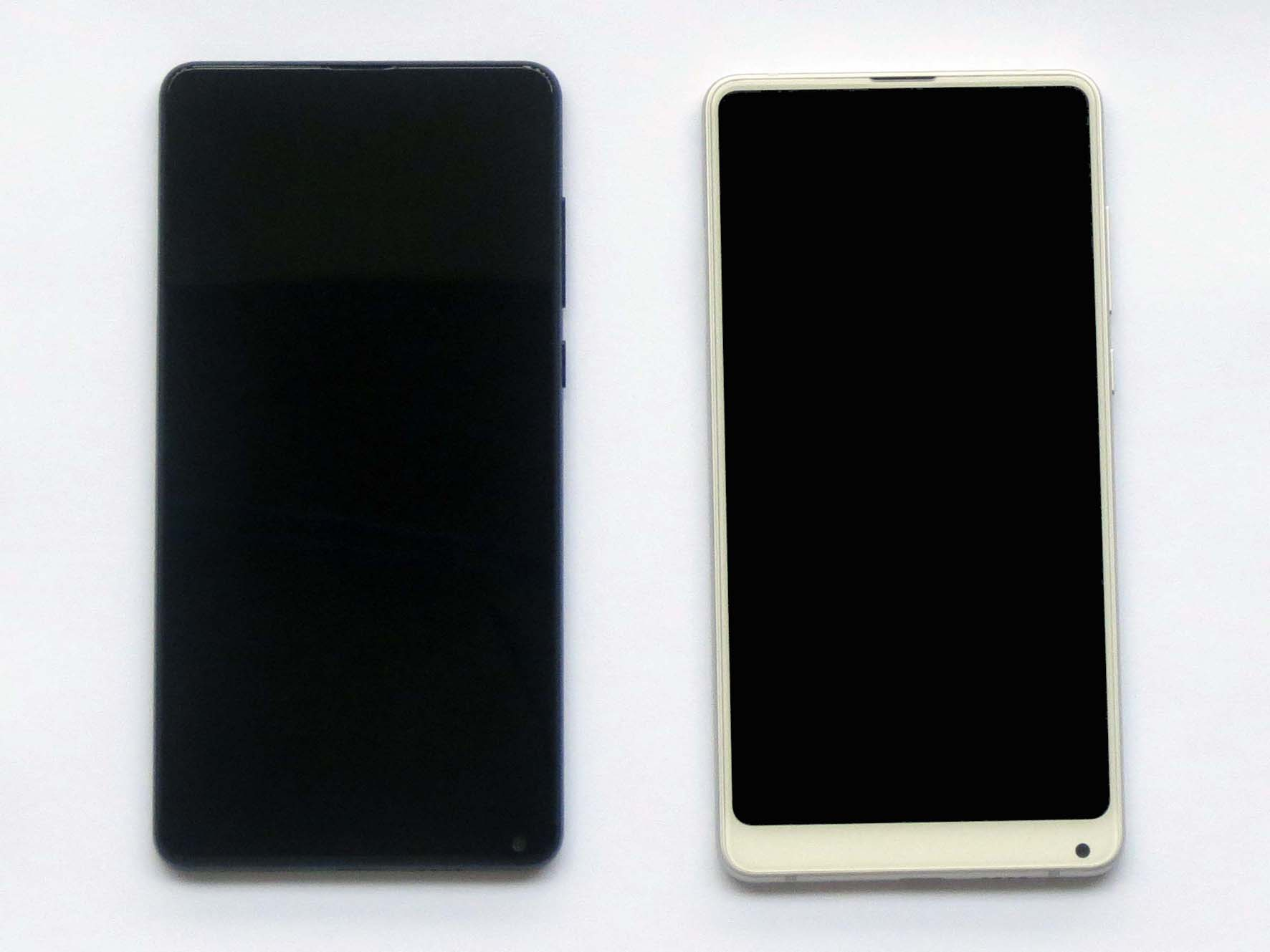 Original Complete screen with front housing for xiaomi MIX 2s-Black & White