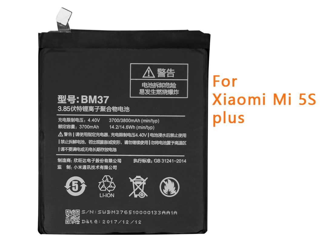 Original BM37 3700mAh Battery For Xiaomi 5S Plus (only Deliver to some countries)