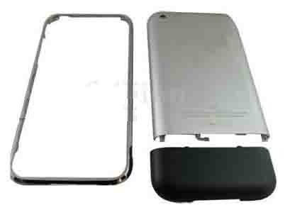 Metallic Back Battery Cover in Silver for iPhone 2G