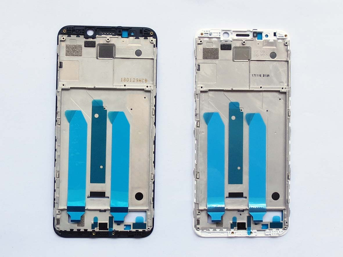 Original Front Frame LCD Supporting Bezel housing  for Redmi 5 plus-Black&White