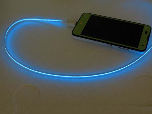LED Lighting Cable EL Luminous USB Charger Sync Flash Cable For Micro USB Mobile Phones