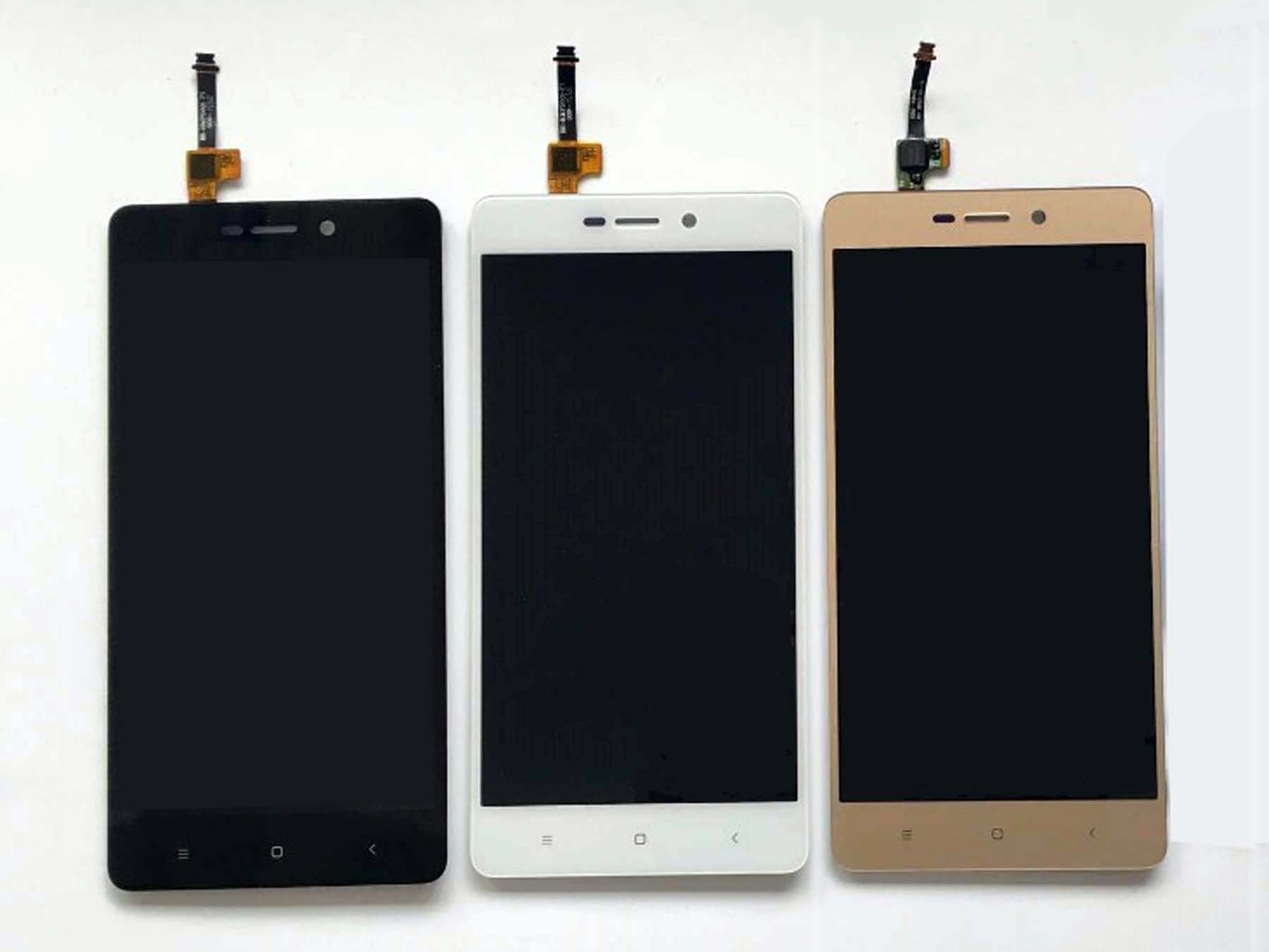 Original LCD Assembly with OEM Touch Screen for Redmi 3s-Black & white & gold