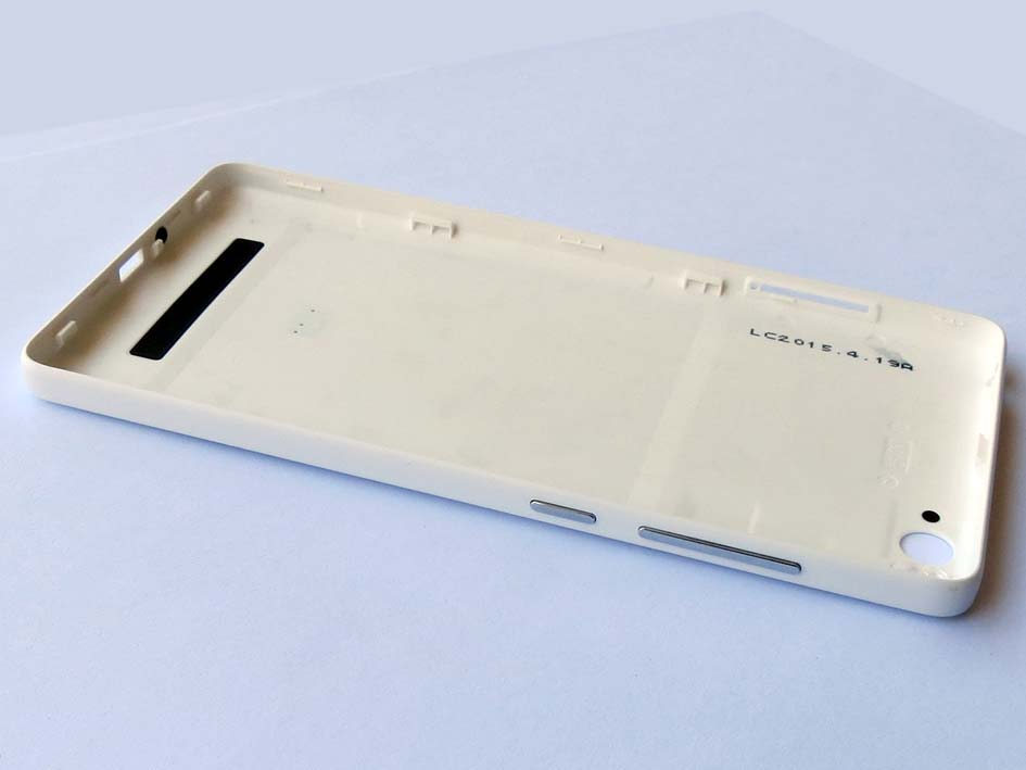 Original Battery Cover Back Housing Cover with side button for Xiaomi 4i-White