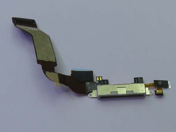 Charger Charging Dock Port Connector Flex Cable for iPhone 4s  -white