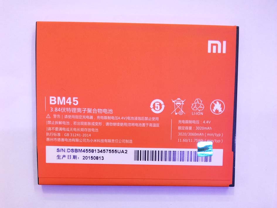 OEM 3060mAh BM45 Built-in Battery for Redmi Note2  (only Deliver to some countries)