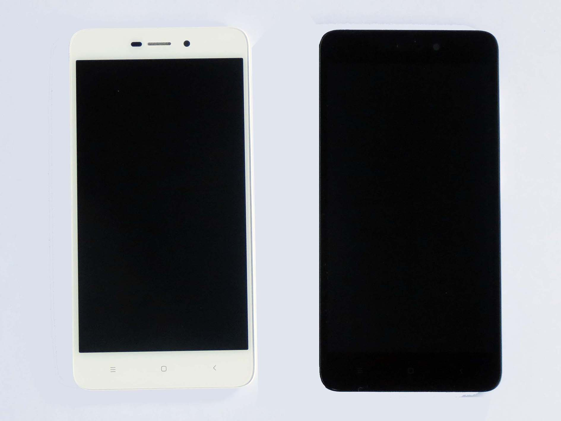 Original Complete screen with front housing for Redmi 4A-Black & white