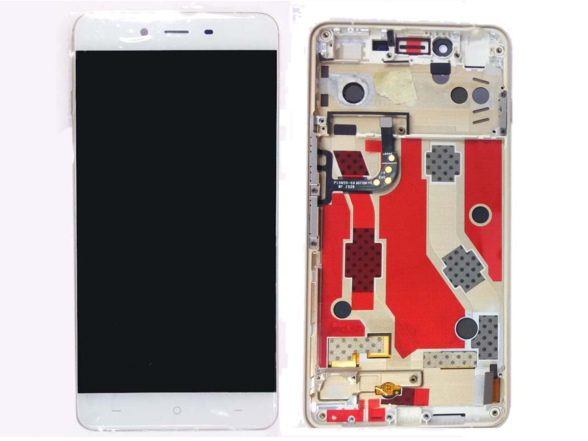 Original genuine Complete screen with housing for Oneplus X - White