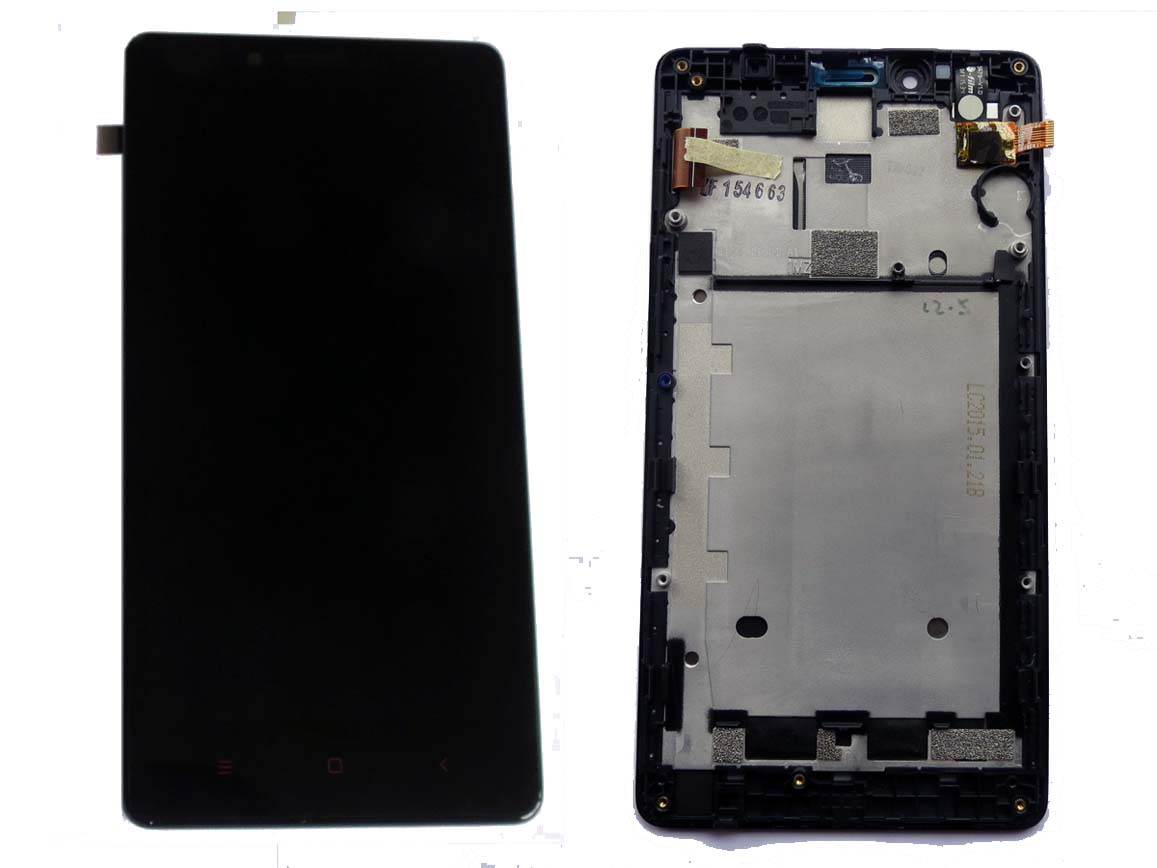 Original LCD Touch Screen Digitizer Assembly with Housing for Redmi Note 4G/LTE - Black