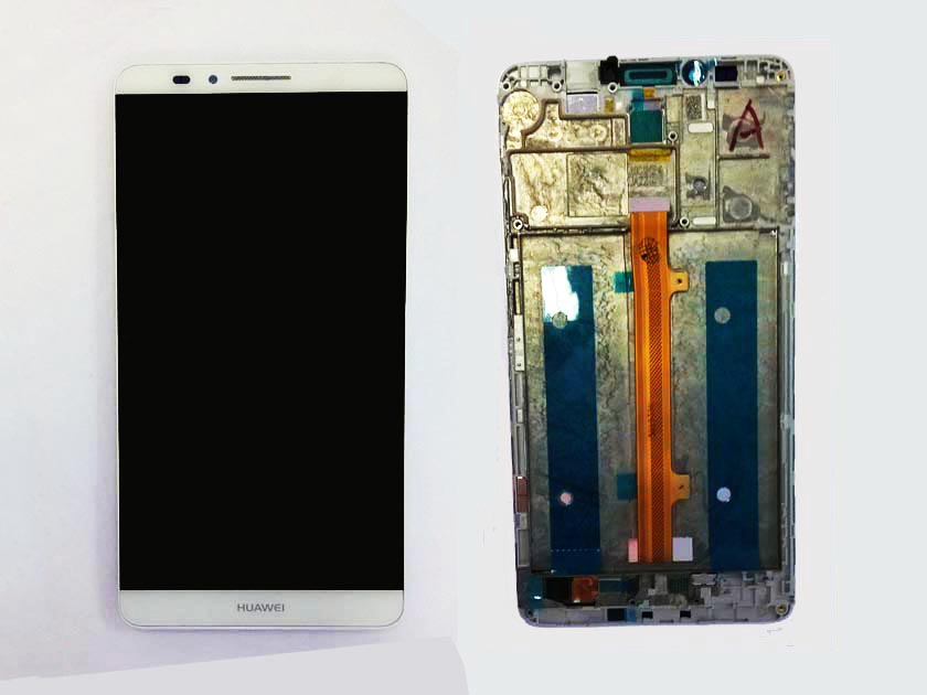 LCD Screen and Touch Screen Assembly with front housing for Huawei mate 7- White