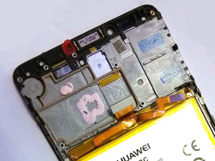 LCD Screen and Digitizer Assembly for Huawei mate 7with Front Housing and Battery - Gold