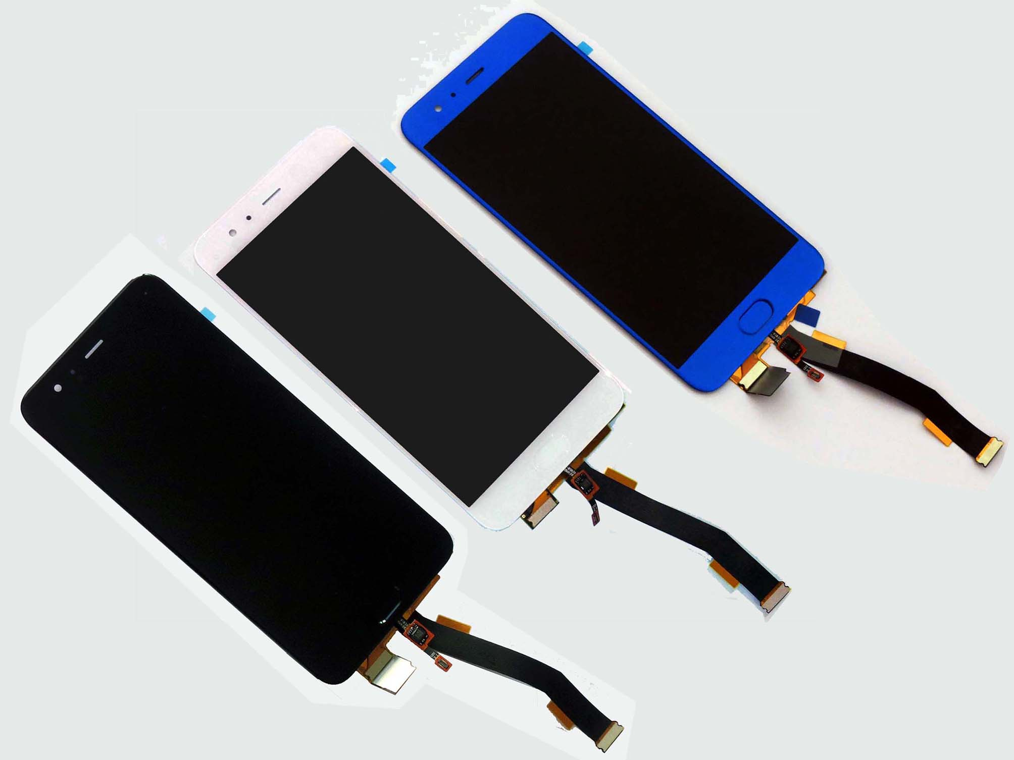 Original LCD Touch Screen Digitizer Assembly with fingerprint flex for mi 6-Black & White & Blue