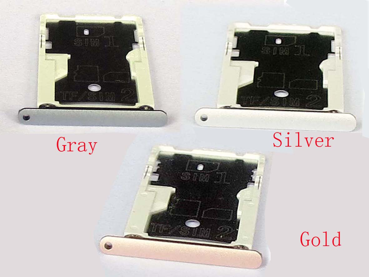 Original snapdragon 650 Dual Sim Card Slot Tray Holder for Redmi note 3- Gray&silver&Gold