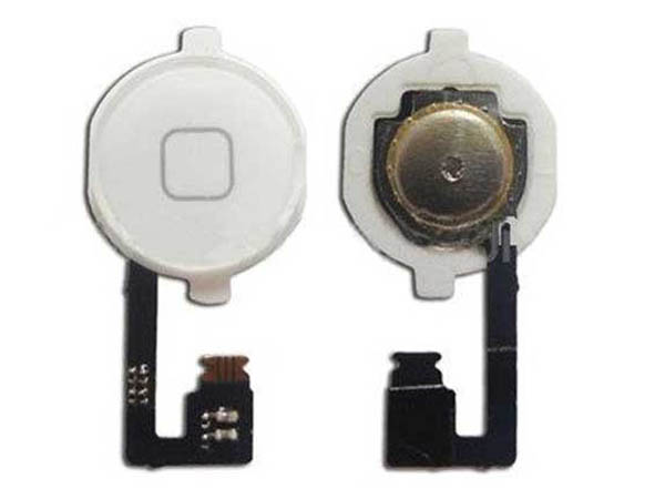 Home Button Assembly White for iPhone 4