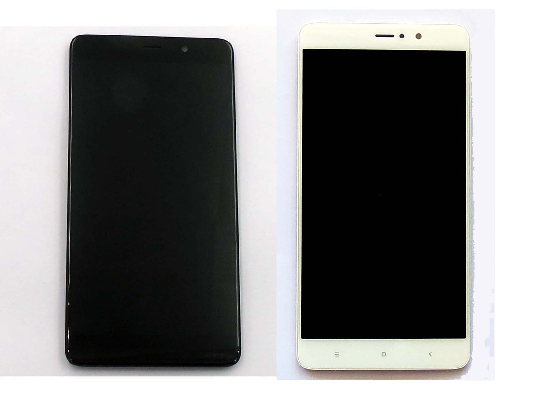 Original Complete screen with front housing for xiaomi 5s Plus - Black & White
