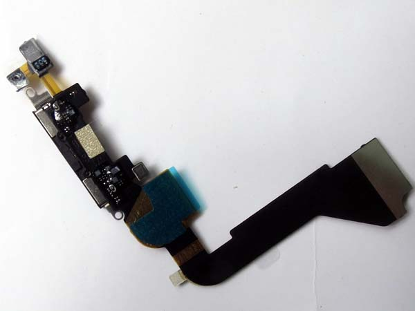 Self soldered Dock connector charging port flex cable for iphone 4  Black