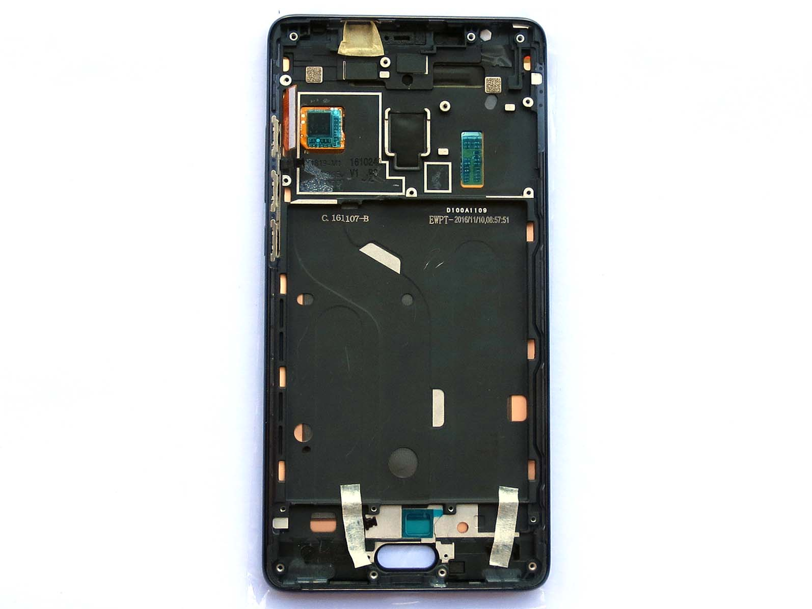 Original Black screen for xiaomi note 2 with front housing - Black&Silver
