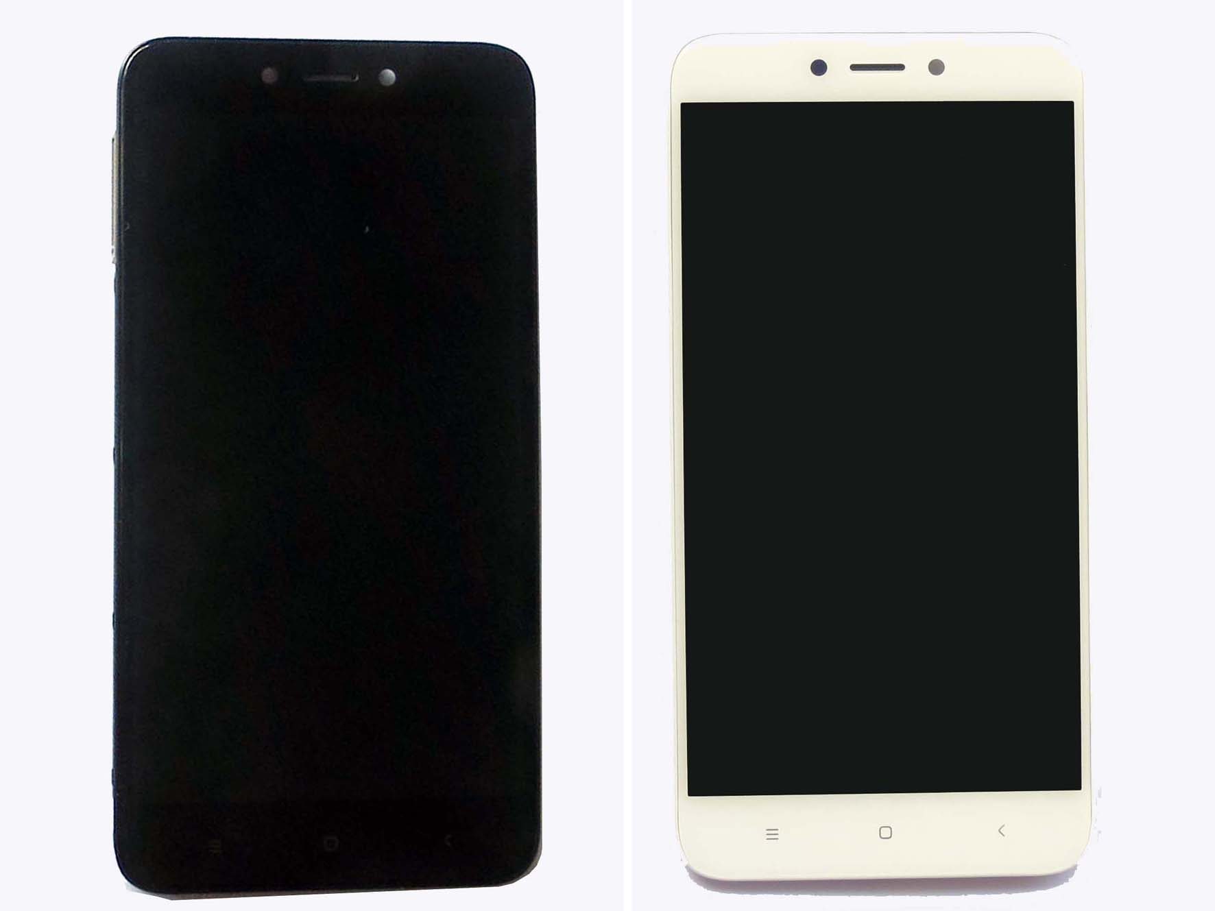 Original Complete screen with front housing for Redmi 4x – Black & White