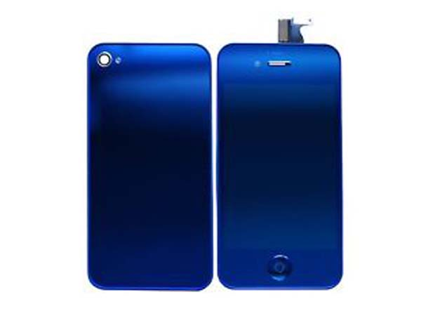 Conversion kit iPhone 4s - blue metalic(mirror LCD)