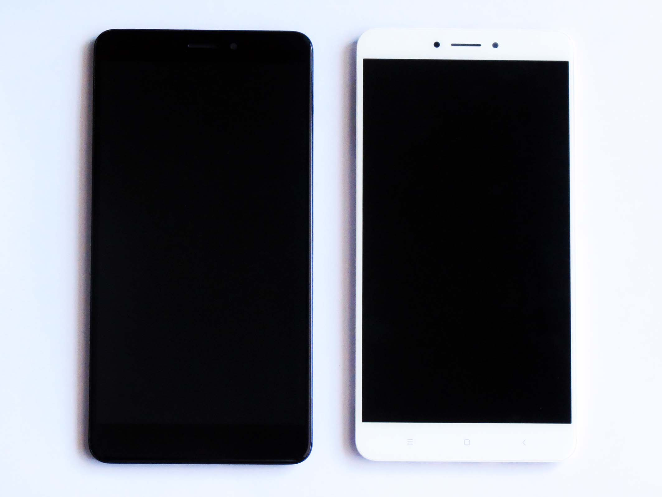 Original Complete screen with front housing for xiaomi max 2 - white & Black