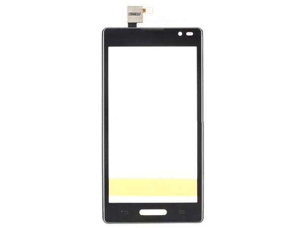 Digitizer Touch Screen with front housing for LG Optimus L9 P760 - Black