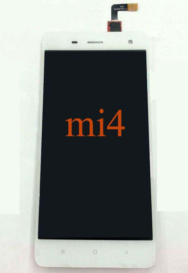 100% original LCD Screen and Touch Screen Assembly for Xiaomi 4 M4 Mi4 - Black & white