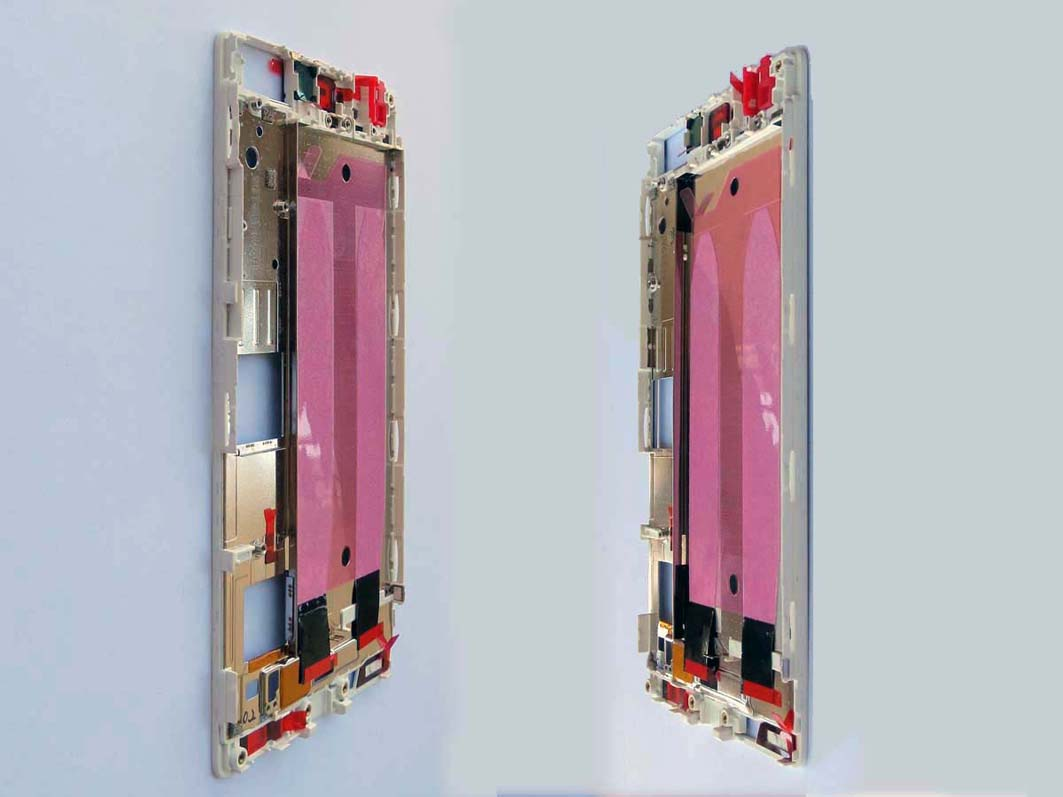 Front Frame LCD Supporting Frame Bezel Housing for Huawei Ascend P8 -White