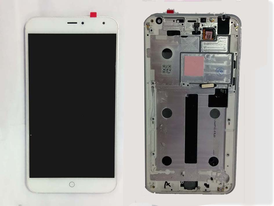 Original LCD Touch Screen Digitizer Assembly with frame for Meizu MX4– White