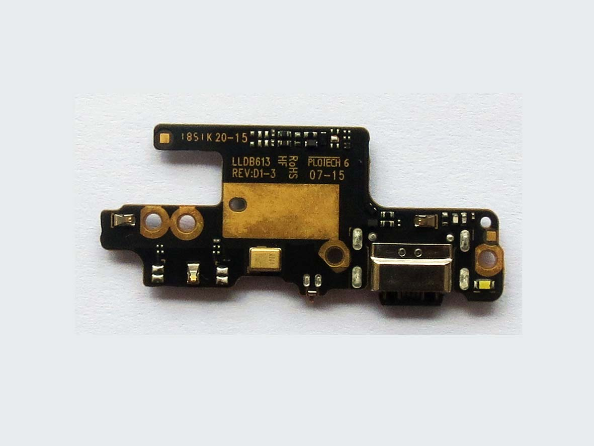 Original USB plug charge board with micorphone and headphoneJack for Redmi note 7