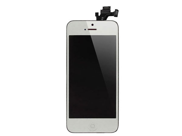 Complete screen for iPhone 5- metalic silver non mirror LCD