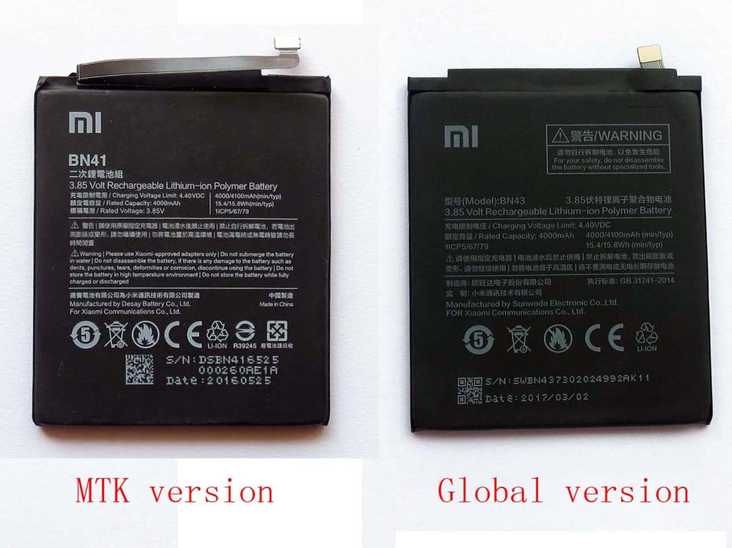 Original Built-in Battery for Redmi note 4 –MTK &Global version(only Deliver to some countries)