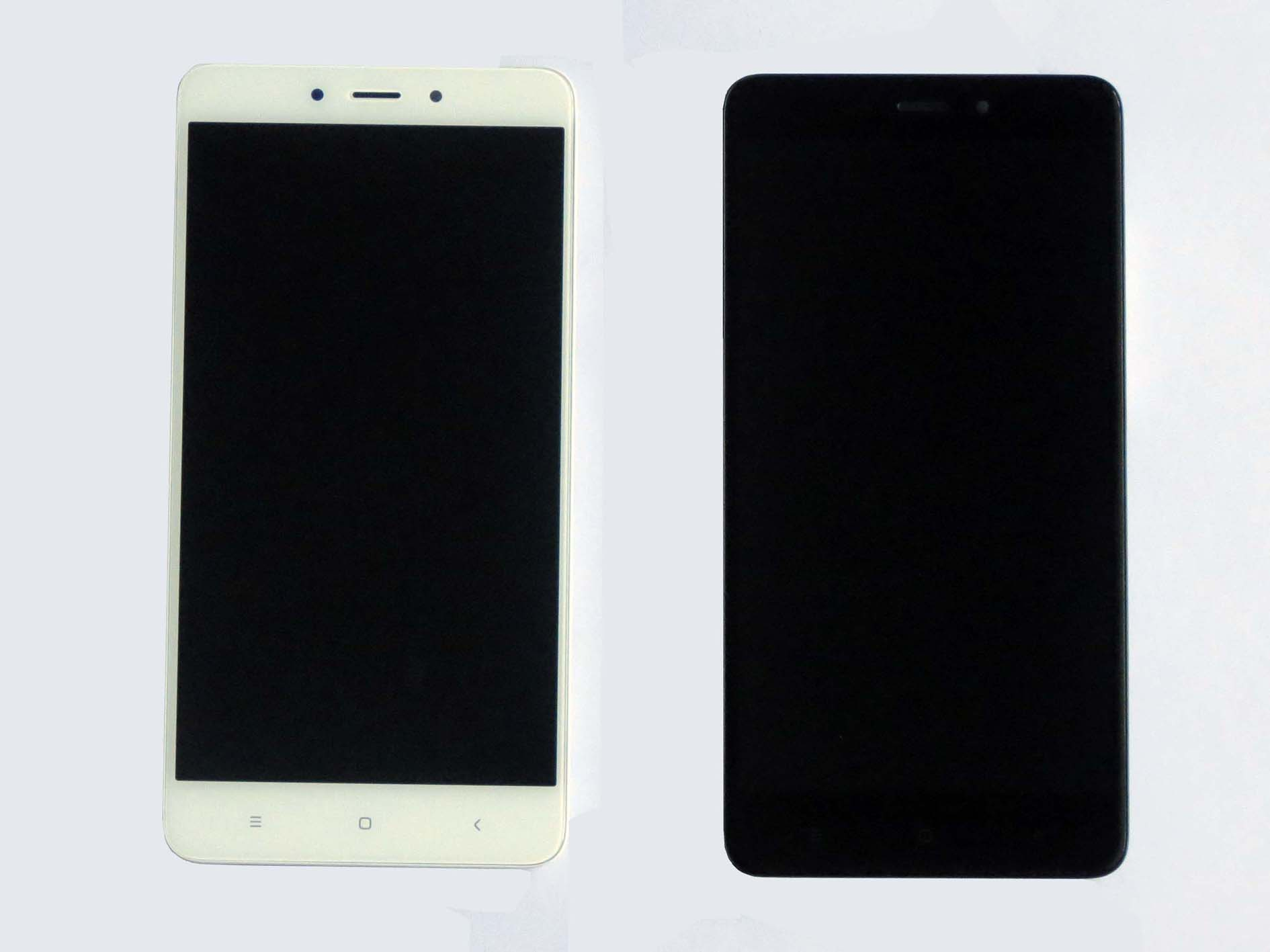 Original MTK version Complete screen with front housing for Redmi note 4 –Black&White