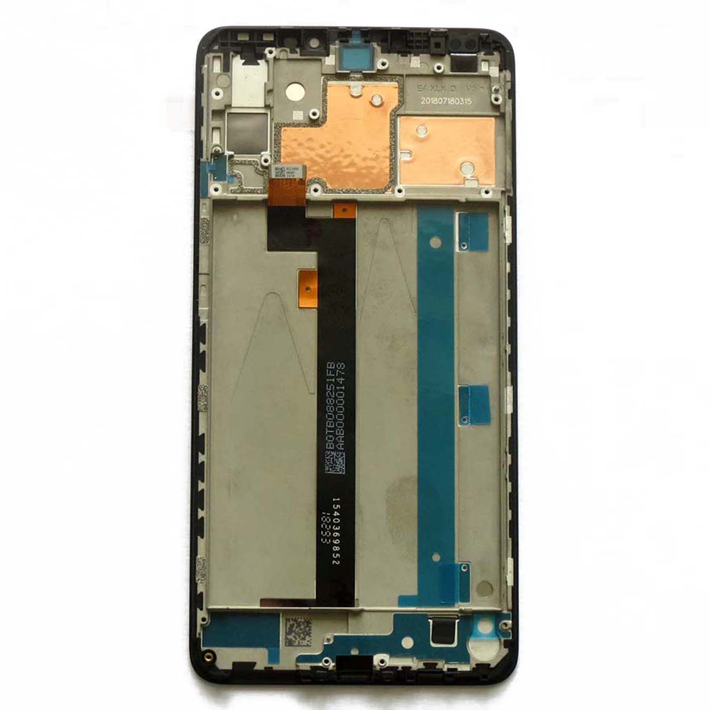 Original LCD Touch screen assembly with frame for xiaomi max 3 - white & Black