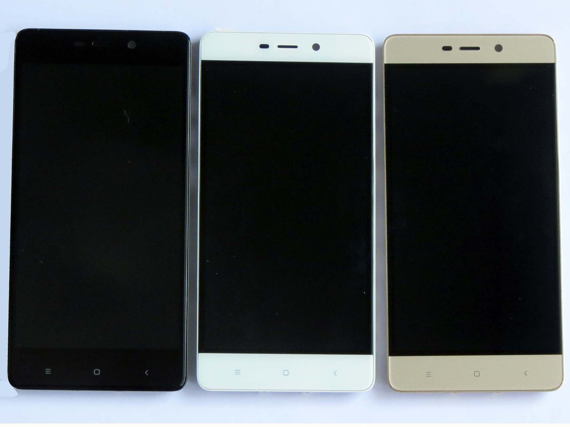 Original LCD +OEM Touch Screen Digitizer + frame for Redmi 4 pro -Black & White & Gold